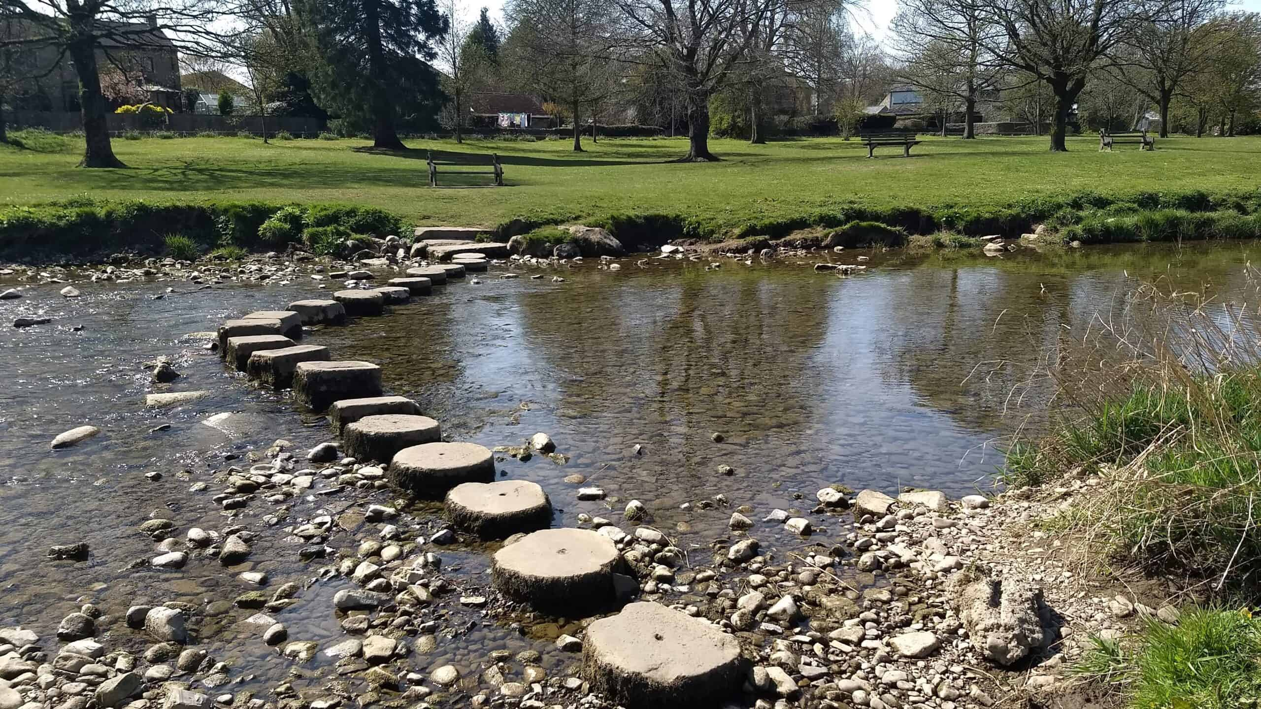 Stepping stones at Gargrave